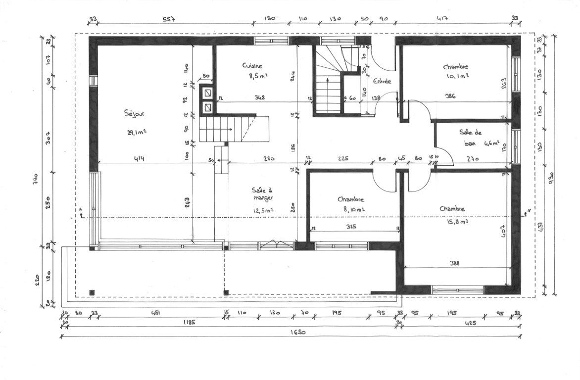 Projet d'aménagement dans une maison familiale